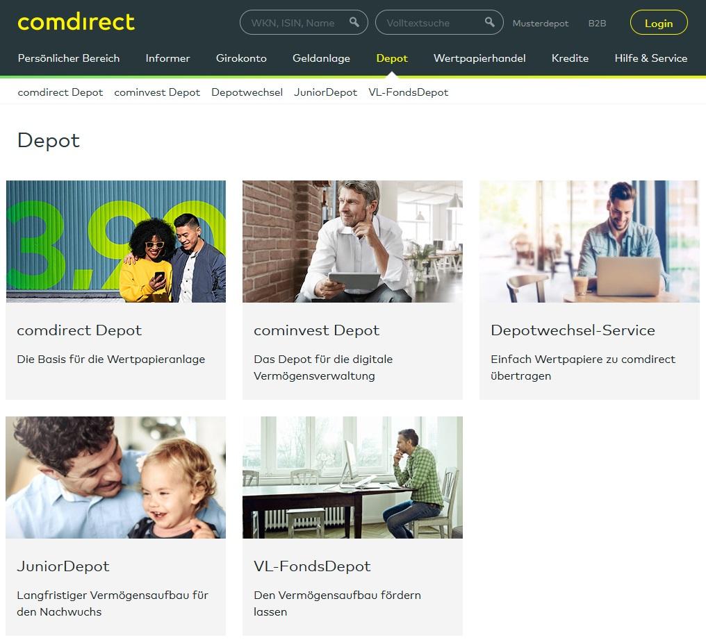 comdirect Depot eröffnen und Login