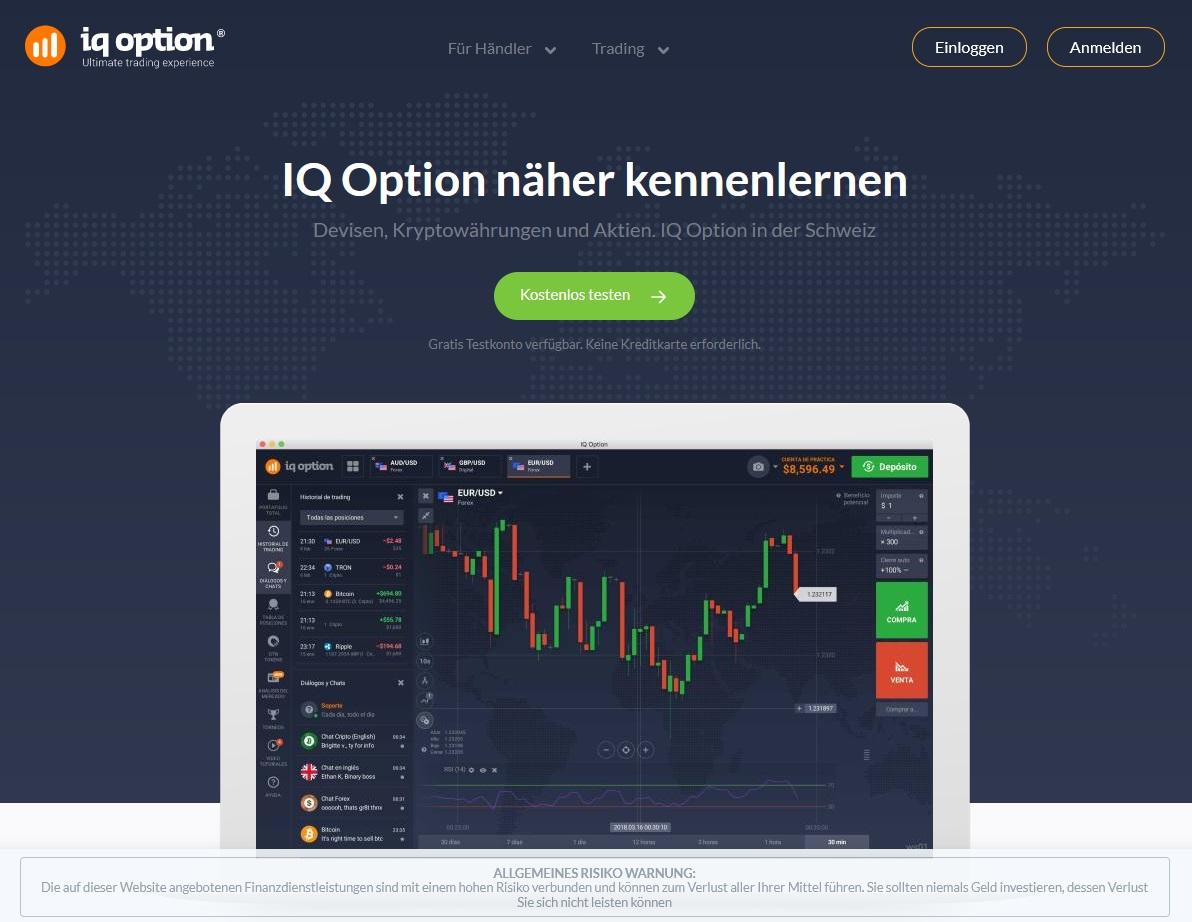 iq option Konto eröffnen und Login