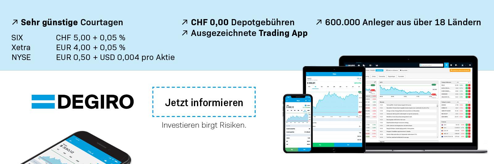 DEGIRO Online Broker Schweiz