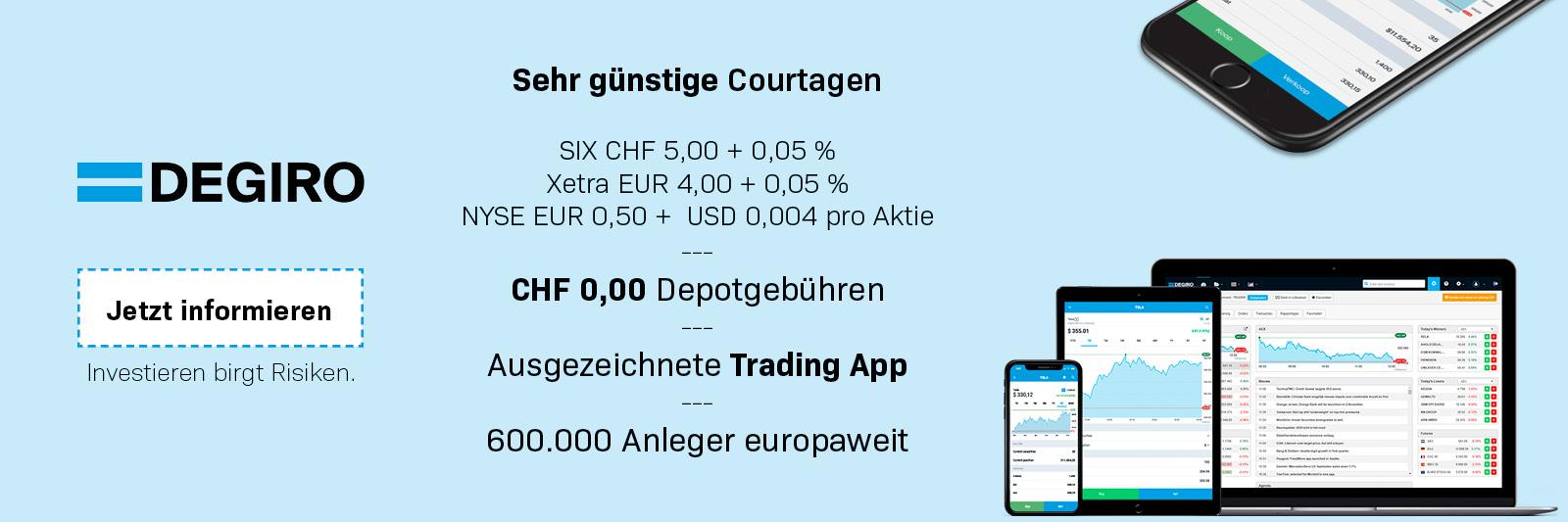 DEGIRO Schweiz Courtagen Brokerverglei.ch