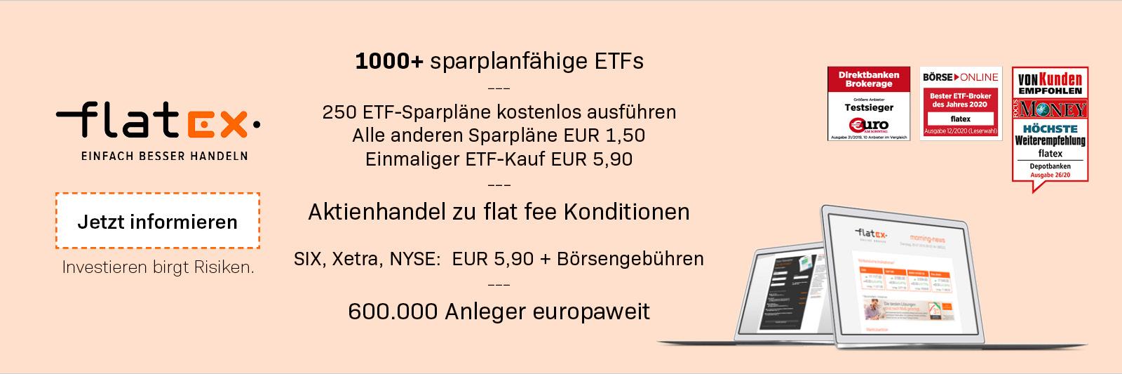 flatex Schweiz ETF Depotkonto